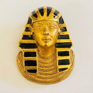 Vtg Erwin Pearl King Tut Egyptian Pendant & Brooch